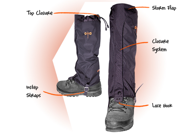 Gaiter features which are important aspects in dictating the quality. Make sure your gaiters will have proper design features so they will function as intended.
